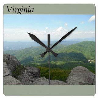 Virginia-Wanduhr Quadratische Wanduhr