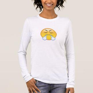 Visage avec le regard de Triumph Emoji T-shirt À Manches Longues