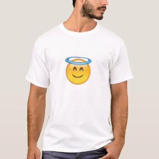 Visage de sourire avec le halo Emoji T-shirt