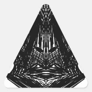 Visage d'illustration sticker triangulaire
