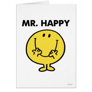 Visage souriant géant de M. Happy | Carte De Vœux