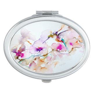 Vision im rosa Kolibri-Druck Taschenspiegel