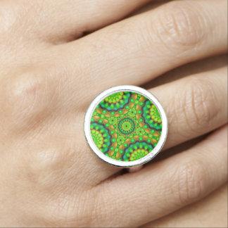Visions psychédéliques de mandala d'anneau bague avec photo