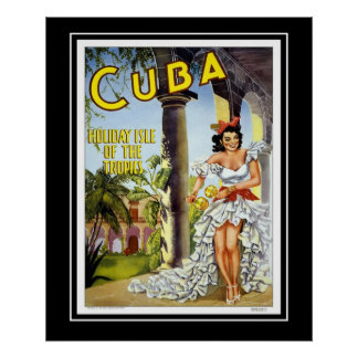 Visite Cuba de voyage de posters vintage de grande
