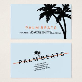 Visitenkarte - aufsteigende Palmen