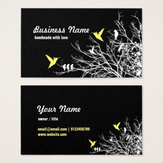 Visitenkarte - Baumaste und zwei Vögel