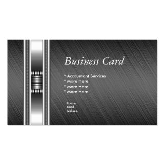 Visitenkarte-elegante silberne Chrom-Grau-Auslese