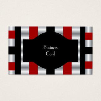 Visitenkarte-eleganter Streifen-rotes weißes Visitenkarte