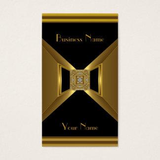 Visitenkarte-elegantes Goldschwarz-Juwel Visitenkarte