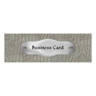 Visitenkarte-elegantes Metall auf Metall dünne 4 Mini-Visitenkarten