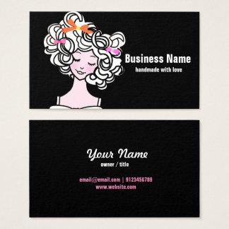 Visitenkarte - Frau, Mode, Mädchen, Haarbogen