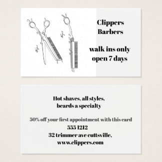 Visitenkarte für Friseur oder Friseur