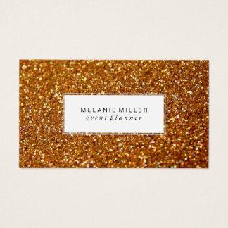 Visitenkarte - gefunkeltes Entwurfs-Gold