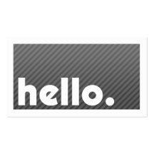 Visitenkarte Groupon HELLO Black Stripes Company