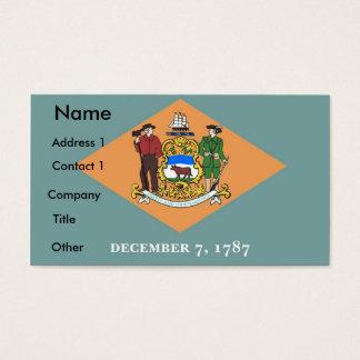 Visitenkarte mit Flagge von Delaware USA