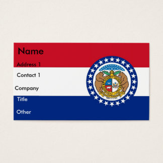 Visitenkarte mit Flagge von Missouri USA
