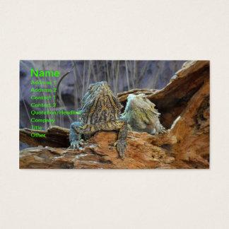 Visitenkarte mit zwei neugierigen Eidechsen