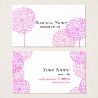 Visitenkarte - rosa Löwenzahn