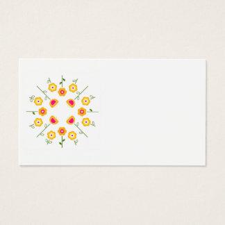 Visitenkarte: Weiß mit gelben Blumen Visitenkarten