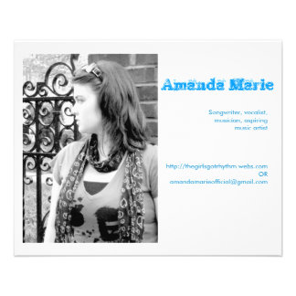 Visitenkarten Amanda Marie Custom Flyer