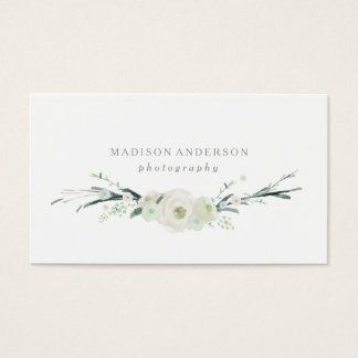 Visitenkarten des Aquarell-Blumenstrauß-|