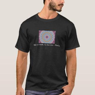 Visueller Gebets-Entwurf mit ZEN Buddhist-Zitat T-Shirt