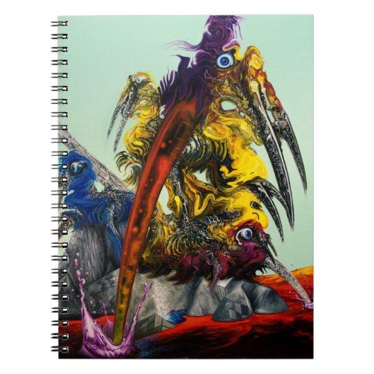 Visuelles Kunst-Gelb-rotes blaues stilvolles des Notizblock