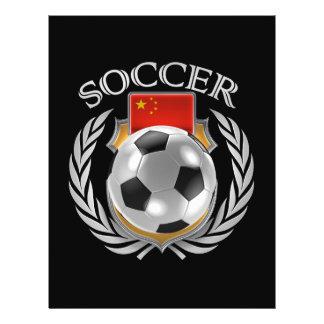 Vitesse de fan du football 2016 de la Chine Prospectus 21,6 Cm X 24,94 Cm
