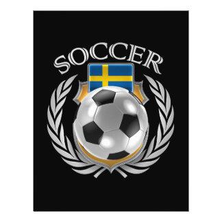Vitesse de fan du football 2016 de la Suède Prospectus 21,6 Cm X 24,94 Cm