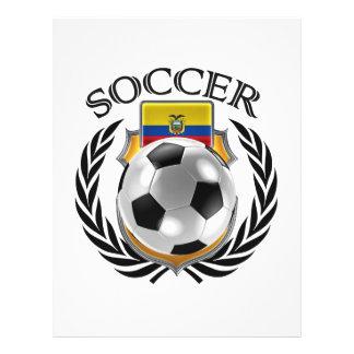 Vitesse de fan du football 2016 de l'Equateur Prospectus 21,6 Cm X 24,94 Cm