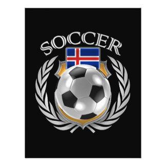 Vitesse de fan du football 2016 de l'Islande Prospectus 21,6 Cm X 24,94 Cm