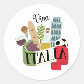 Viva Italien Runder Aufkleber