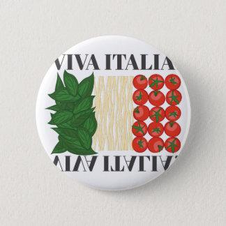 Viva Italien Runder Button 5,1 Cm