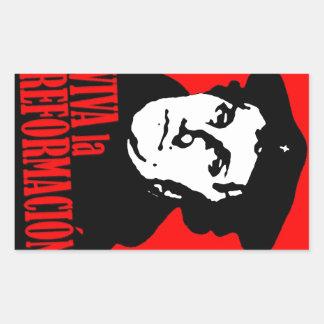 Viva La Reformacion LUTHER Rechteckiger Aufkleber