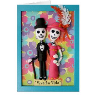 Viva La Vida Tag der toten Hochzeits-Karte Karte