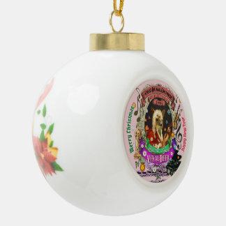 Vivaldeer Vivaldi Rotwild Keramik Kugel-Ornament