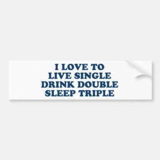 Vivant choisissez le triple de sommeil de double d autocollant de voiture
