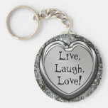 Vivant, rire, amour ! Keychain