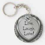 Vivant, rire, amour ! Keychain Porte-clés