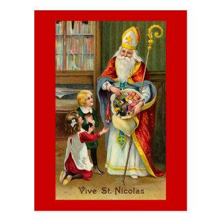 """""""Vive französisches Vintages St.-Nicolas"""" Postkarte"""
