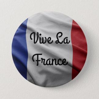Vive La-Frankreich-Abzeichen Runder Button 7,6 Cm