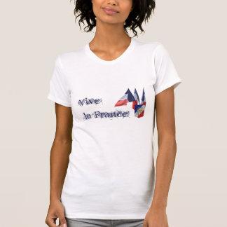 Vive La Frankreich! Französische Flaggen und T-Shirt