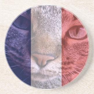 Vive La Frankreich Getränkeuntersetzer