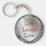 Vivent l'amour Keychain de rire