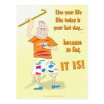 Vivent votre vie comme aujourd'hui est votre cartes postales