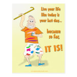 Vivent votre vie comme aujourd'hui est votre derni cartes postales