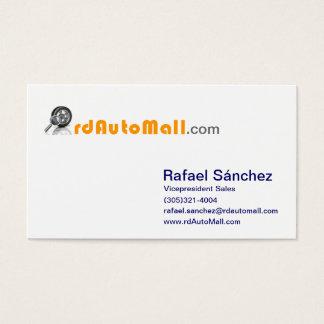 Vizepräsident rdAutoMall Rafael-Sanchez von Visitenkarte
