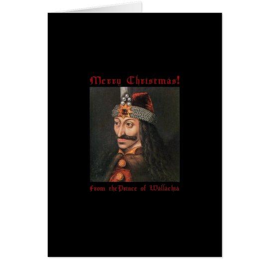 Vlad die Impaler Weihnachtskarte Karte