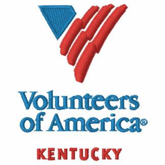 VOA Kentucky das gestickte ergatterte Shirt Männer Besticktes Polo Shirt