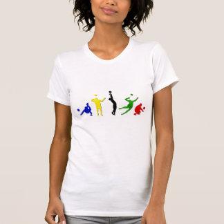 Voellyball Spieler-Volleyballteam Mintonette Kunst T-Shirt